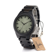 BOBO PÁJARO Reloj Para Hombre Hecho A Mano de Madera De Madera Reloj de Pulsera Relojes De Lujo A Estrenar Reloj de Los Hombres Reloj de Cuarzo Ocasional Mejores Regalos C-H03