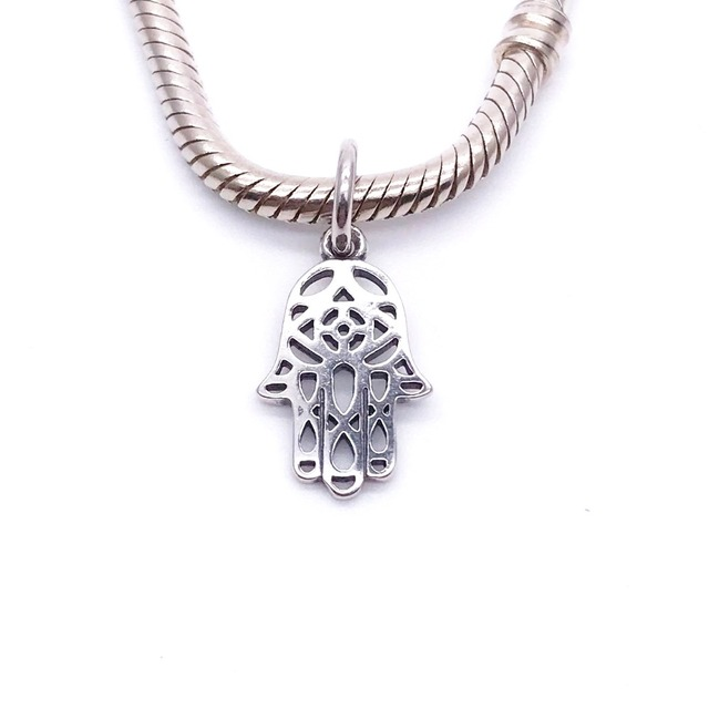2e178622059d3 US $4.74 5% OFF|original real 925 sterling silver dangle hamsa hand charm  european bead, Fits Pandora European Charm Bracelet-in Beads from Jewelry &  ...
