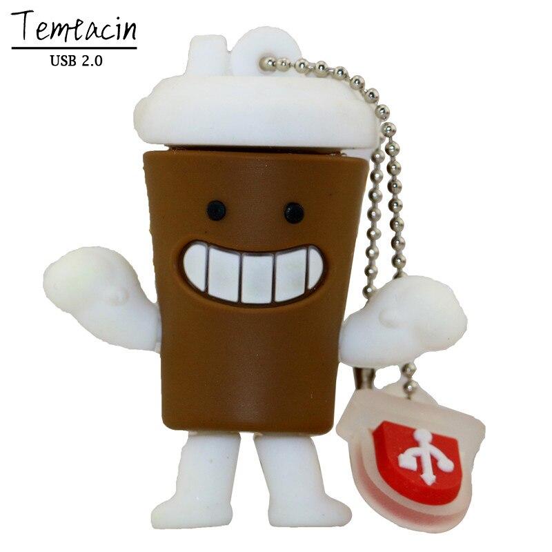 2017 Pen Drive Starbucks Cup USB Flash Drive 8GB 16GB 32GB 64GB Cartoon Bottle Coffee Mug Flash Memory Stick USB Drive