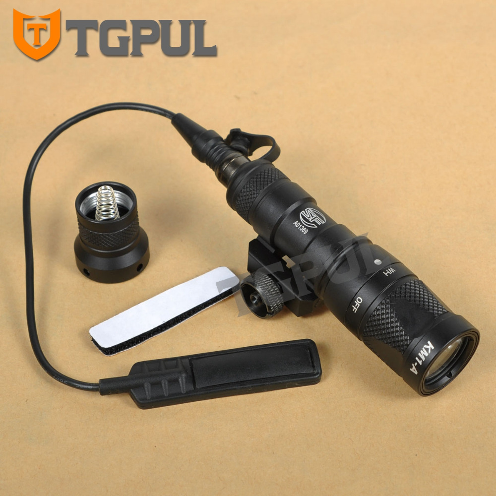 TGPUL M300 M300V Tactical Flashlight Gun Weapon Light Military Hunting Strobe Torch For 20mm Weaver Picatinny Rail AR15 greenbase tactical weapon light sf x300 hunting flashlight airsoft pistol scout light constant momentary output picatinny rail