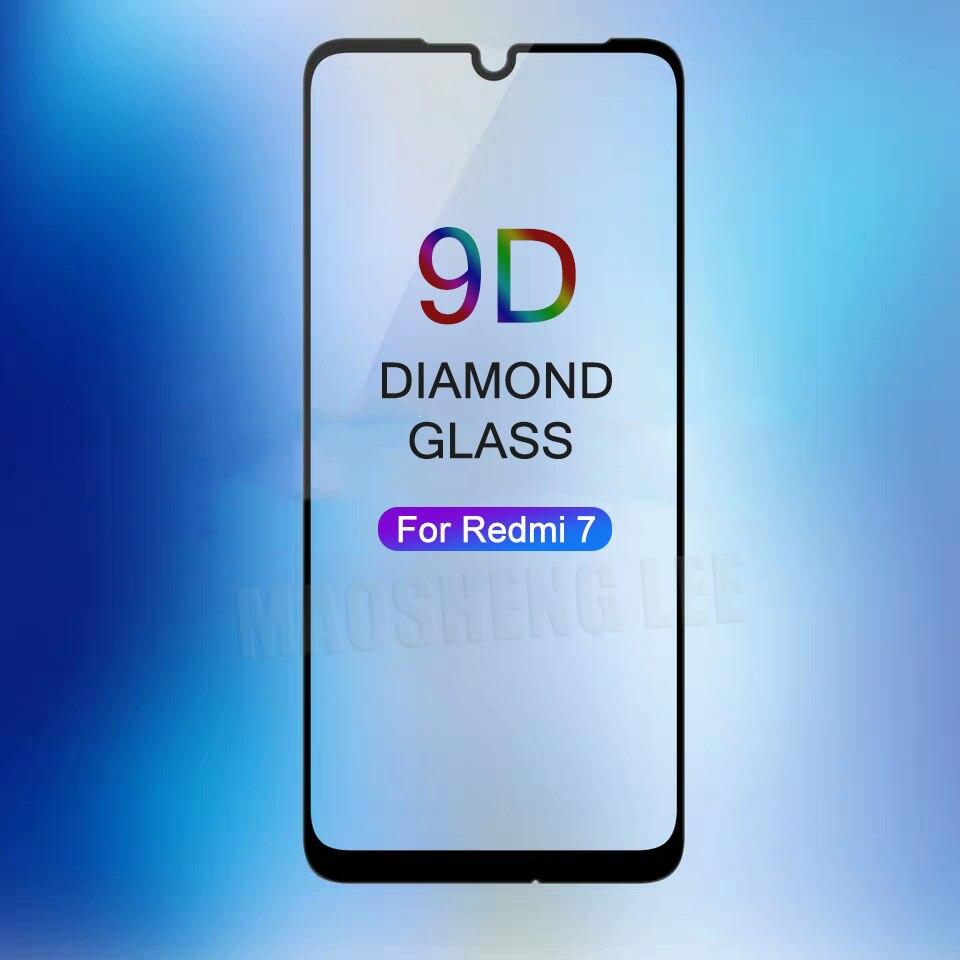 Nuovo 9D Vetro Temperato Per Xiaomi redmi 7 Della Copertura Completa di Protezione Dello Schermo in vetro temperato Per Xiaomi redmi 7 di vetro di Protezione pellicola