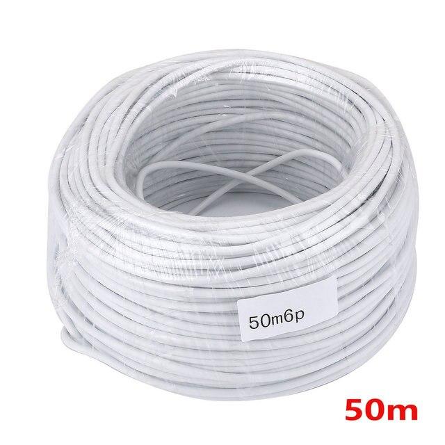 50 Mt 2,54*6 P 6 draht kabel für videoüberwachung Farbe Video ...