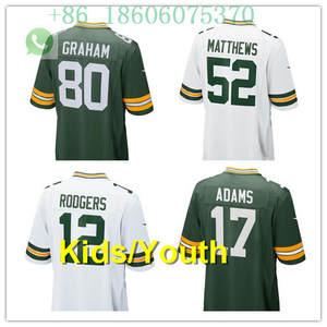 Free shipping quality Kids youth 12 Aaron Rodgers Clay Matthews 52 Ha Ha  Clinton-Dix21 Jordy Nelson 87 Randall Cobb 18 jersey b10190652