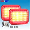 Dempsey большой размер квадрат 3W LED предупреждение поверхностного монтажа аварийная скорой помощи огни DC12/24 V красный светодиод предупреждающи...