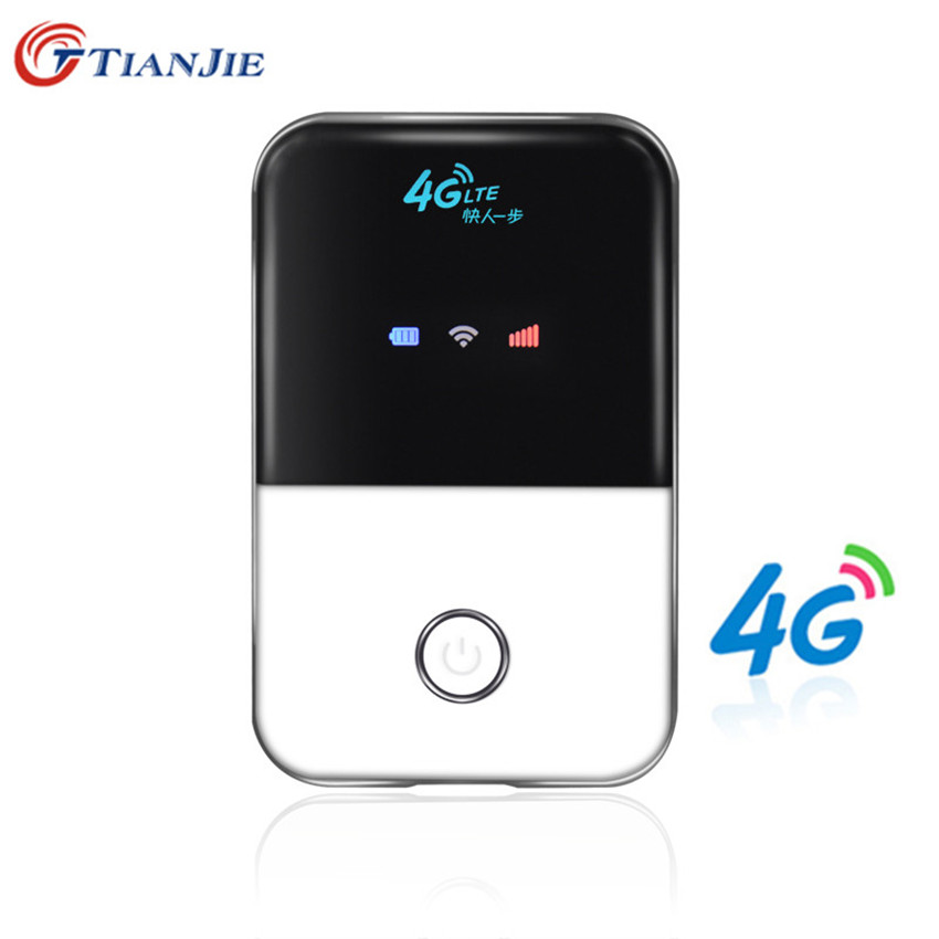 TIANJIE 4G Wifi Router mini router 3G 4G Lte Wireless Portable Pocket wi fi Mobile Hotspot Car Wi-fi Router With Sim Card Slot wi fi роутер mi router 3