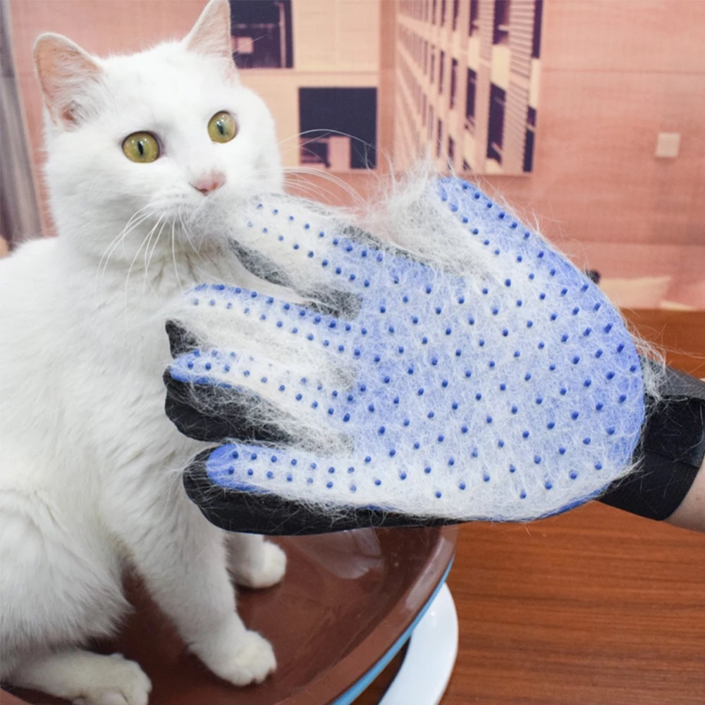 Cat Grooming Glove For Cats Deshedding Brush Glove Product Pet Dog Back Massage Fur Washing Bathing Brush Comb Accessories