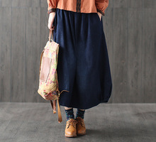 Casual Bohemian Hippie Boho Harajuku Faldas Vaqueras Elastic Waist Loose Denim Blue Cotton Jeans Pocket Women Spring Long Skirt