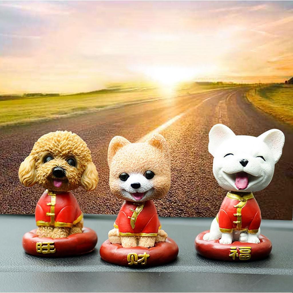 1 Pc Hars Mooie Auto Decoratie Pop Honden Speelgoed Auto-interieur Accessoires Mooie Decoratie Levendig Beeld Bekwame Productie