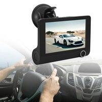 4 cal Car DVR Kamera HD 1080 P Nowy z Dwoma Obiektywami Pojazdu Tylna Kamera g-sensor Rejestrator Wideo DVR Dash Cam Kamera Cofania Wideo