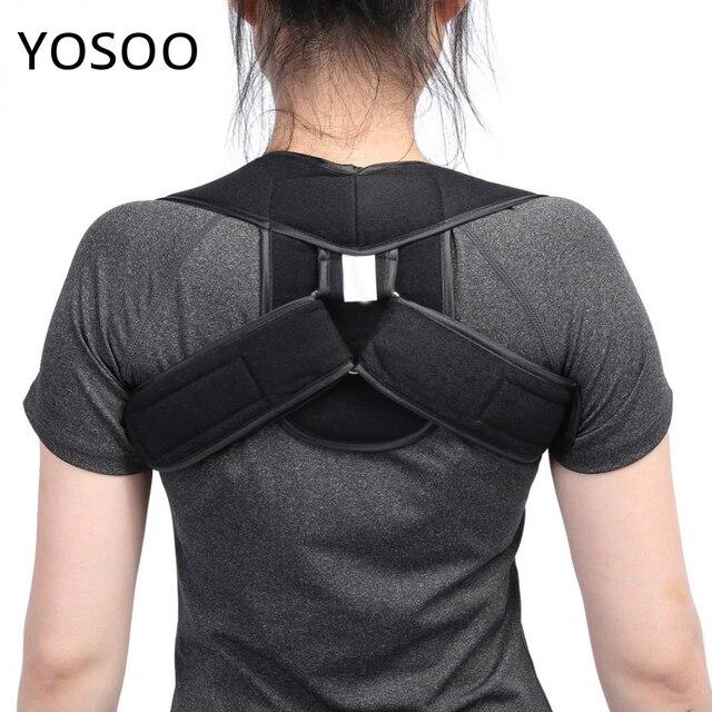 Ajustable en la parte superior de la espalda hombro Corrector de postura niños adultos corsé columna soporte cinturón trasero plantillas de la espalda