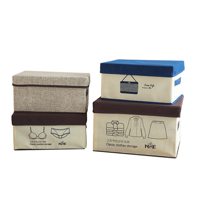 Non-Woven Clothing Storage Boxes Canvas Make Up Brush Cosmetic Stationery Book And Magazine Storage  sc 1 st  AliExpress.com & Non Woven Clothing Storage Boxes Canvas Make Up Brush Cosmetic ...