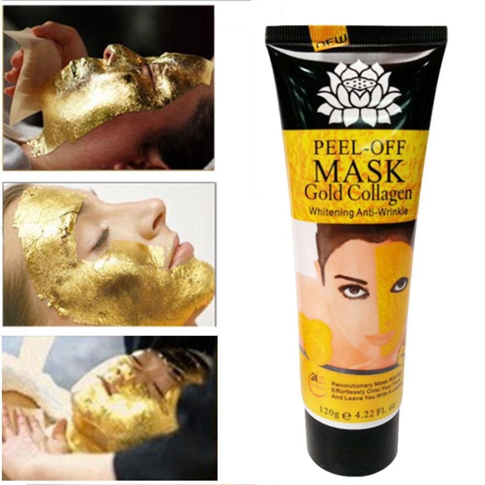 24K Golden Peel Off Mask Anti Arrugas Anti Envejecimiento Facial Mascarilla Cuidado Facial Blanqueamiento Mascarillas Cuidado de Piel Lifting Facial Mascarilla Reafirmante