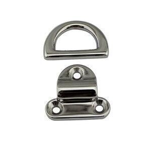 Image 5 - 6 มม.Deck Pad ตา lashing D แหวน Tie ลงจุด Anchor ยึดแผ่น Cleat กระจกภาษาโปลิชคำ Marine Grade 316 สแตนเลส