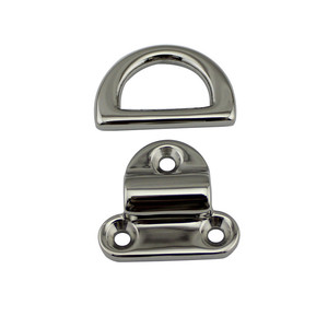 Image 5 - 6mm Folding Deck Pad Eyes lashing d ring Tie Down Point Anchor Fixing Cleat Plate Mirror Polish Marine Grade 316 Stainless Steel