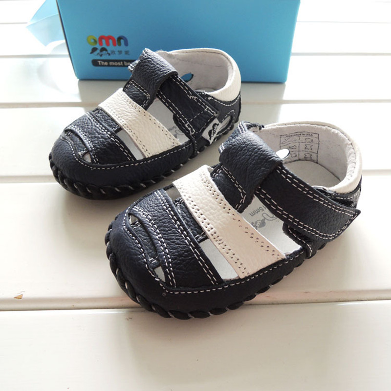 Summer Style OMN Brand Genuine Leather Baby Shoes Indoor Toddler Shoes Infant Boys Prewalkers Shoes