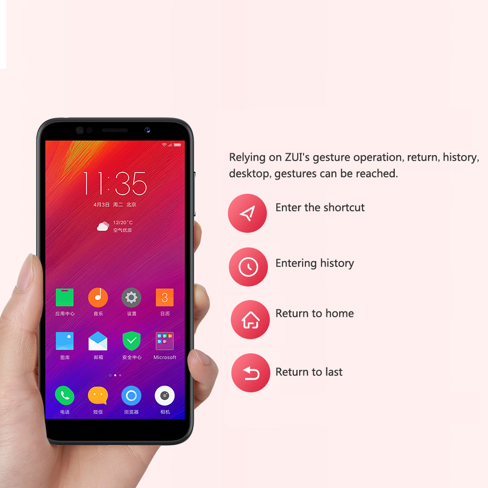 Global Version Lenovo A5 3GB RAM 16GB ROM MTK6739 Quad Core Smartphone 5.45'  Fingerprint 4G LTE Phones 4000mAh Battery Face Unlock (11)