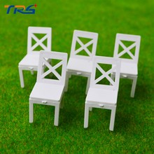 Teraysun 1/25 ABS plastic Chair Miniature Scale Model Chair for model train layout architecture Scenery(China)