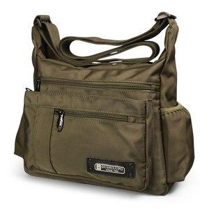 Image 1 - 2020 Men Sport Shoulder Bags Waterproof Crossbody Bag Leisure Oxford Cloth Casual Travel Man Messenger Bag