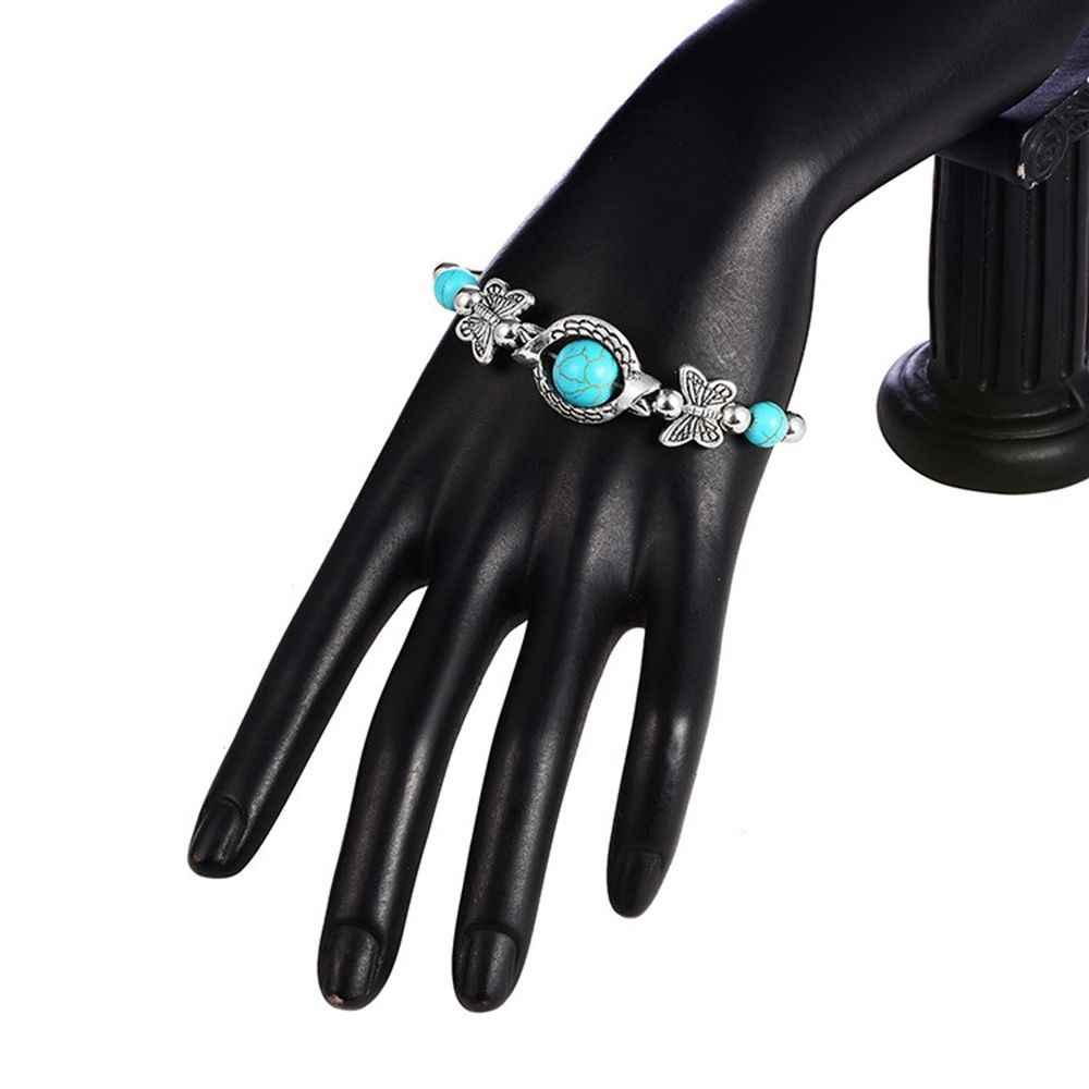 2019 תכשיטים חם Boho בציר צמיד לנשים גברים פרפר יד תליון קסם צמיד צמיד מתנות