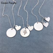 925 Silver Heart Necklace Custom Handmade Jewelry Letter Name Chocker Personalized Coins Pendants Boho Kolye Necklace for Women women s personalized name circle pendants necklace custom letter love heart necklaces silver chain jewelery for couples lovers