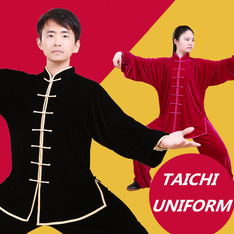 Chinese Taichi Clothes Uniform Moring Exercise Taiji Clothing Kungfu Wushu Martial Arts Tai chi uniform Tai ji Dobok Uniform female wushu tai chi clothing embroidery clothes graded taijiquan embroidered costumes spring kungfu clothing