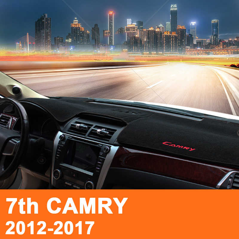 Para Toyota Camry 2012 2013 2014 2015 2016 2017 Carro LHD Dashboard Covers Mat Sombra Almofada Almofada Tapetes Interior Acessório