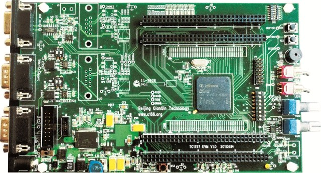 Free Shipping  Single Chip TC1797 Development Board
