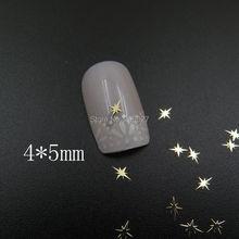 MS366-2 100 шт золотые милые 4*5 мм блестящие металлические наклейки для дизайна ногтей металлические наклейки для украшения ногтей не клеящиеся наклейки