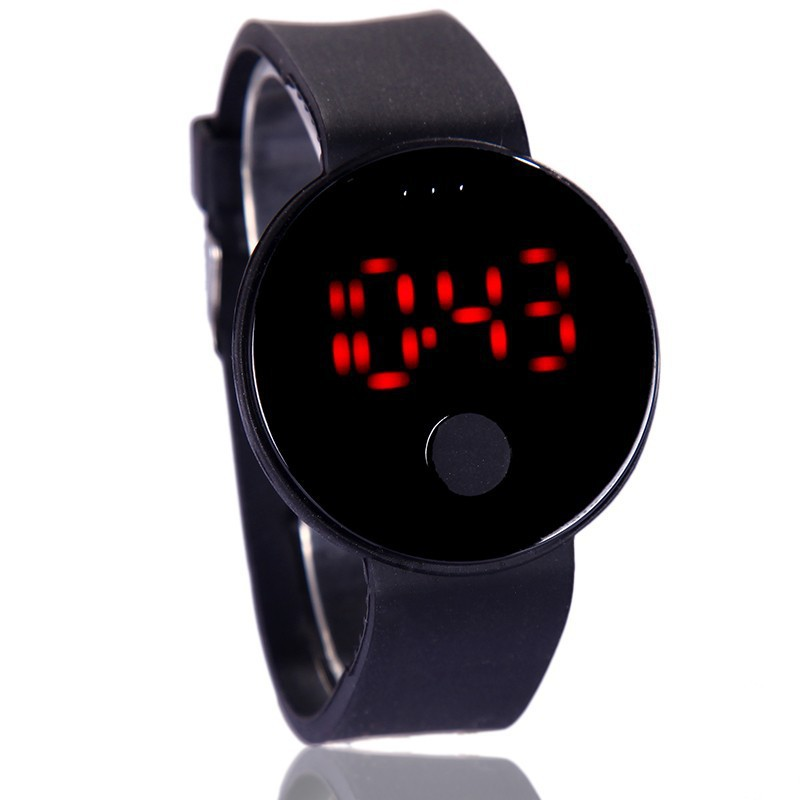 Perfect Mens Womens Silicone LED Watch Sports Bracelet Digital Wrist Watch Light Wrist Sports Watch Gift Kids Girls Boys