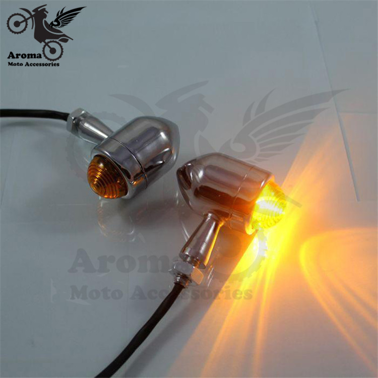 12v motorcycle Turn signal light LED motorbike indicator amber blinker lamp flashers yellow lightingorange lens universal parts
