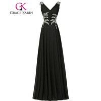 Fast Delivery GK New Luxury Elegant Formal Cheap Long Evening Dresses Real Black Pink Blue Vestido