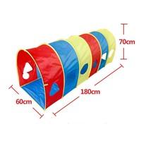 180*60*70 см Модная одежда для детей, Детская мода ребенок туннель ползать играть Палатки красочные Малыш образования туннель