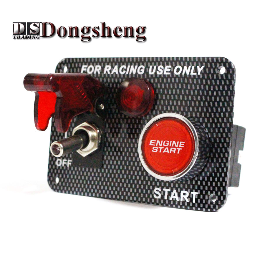 Racing Car Start Button Ignition Switch Panel Power