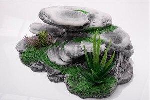 Image 3 - Mr. Lớn Hướng Núi Bò Sát Rockery Đồ Trang Trí Nhân Tạo Bể Cá Động Đá Cây Turtoises Leo Sân Thượng Bàn
