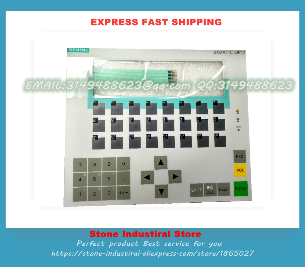 New Membrane keypad 6AV3 617-1JC00-0AX1 for HMI OP 17 KEYPAD Membrane op17 HMI keypad 100% Tested Good Qualiy simba игра пиранья simba