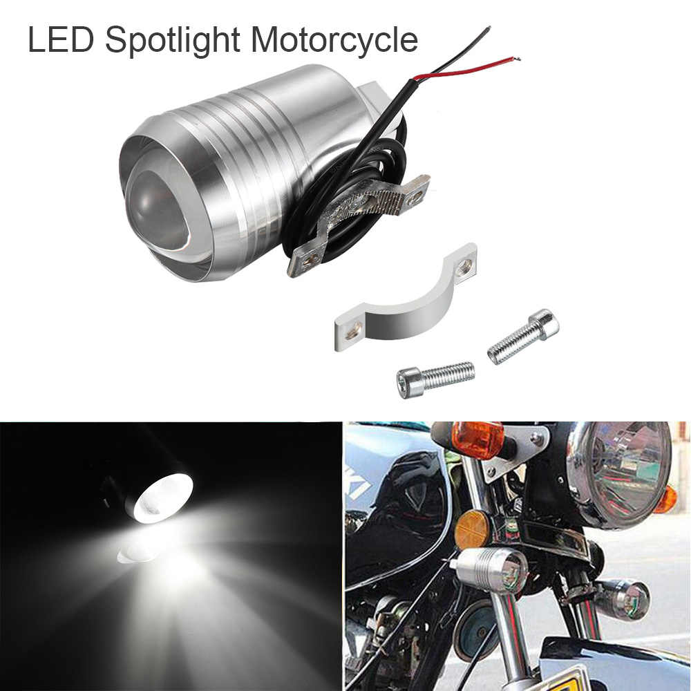 12V-80V U2 30W LED Spotlight Motorcycle DRL Driving Fog Lamp Black/Silver Spot HeadLight Scooters Super Bright Lamp