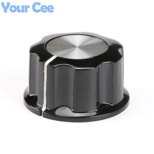 Image 2 - 50pcs Skirted Knob A03 For Standard Ports Black Diameter 27mm Height 16mm Hole Diameter 6mm For Potentiometer