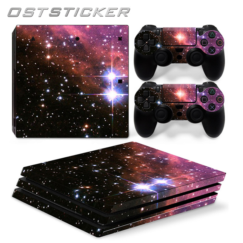 Us 1182 30 Off30 Off Oststicker Hot Selling Pink Star For Ps4 Pro Skin Sticker For Sony Playstation 4 Pro Console And 2pcs Controller Skins In