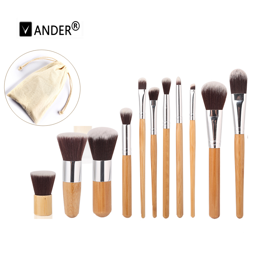 11Pcs/set Professional Soft Makeup Brushes Cosmetic Eyeshadow Foundation Concealer Brush Set Kit Free Draw String Make Up Bag new lcbox professional 16 pcs makeup brush set kit pouch bag cosmetic brush kit cosmetic powder foundation eyeshadow brush tools