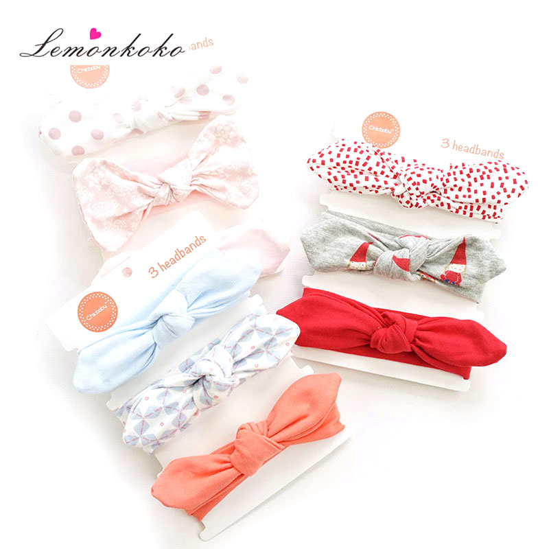 [Lemonkoko] 3 PCS Baby Headdress Set Girl Headband Baby Supplies Bow Knot Hairpin Hair Accessories Newborn Headbands new high quality baby hair accessories children s cute lace bowknot hair clips baby girl hairpin child hair bow ribbon headdress
