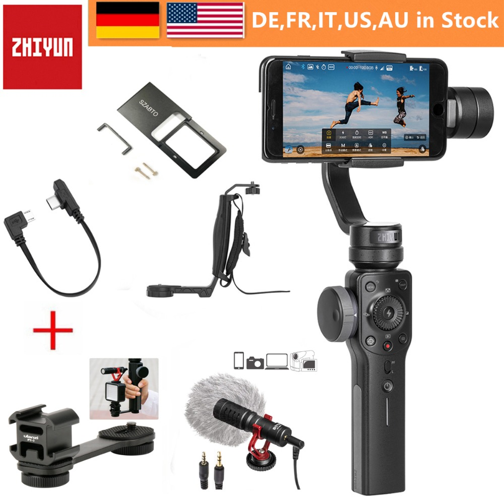 Zhiyun Smooth 4 3-Axis Handheld Gimbal Stabilizer For Smartphone IPhone X 8 Plus 7 6 SE Samsung Galaxy S9,8,7,6 And Action Camer