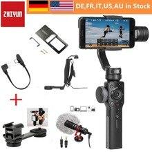 Zhiyun Smooth 4 3-осевой Карманный стабилизатор для смартфона iPhone X 8 плюс 7 6 Plus SE samsung Galaxy S9, 8,7, 6 и экшн-камер