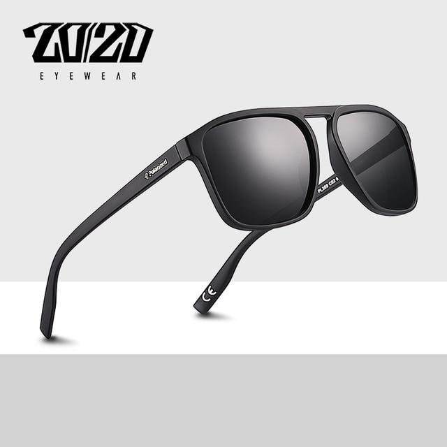 f1b0a5fb3352f 20 20 Brand Design Classic Polarized Sunglasses Men Glasses Driving Coating  Black Frame Fishing Male Eyeglasses Oculos PL369