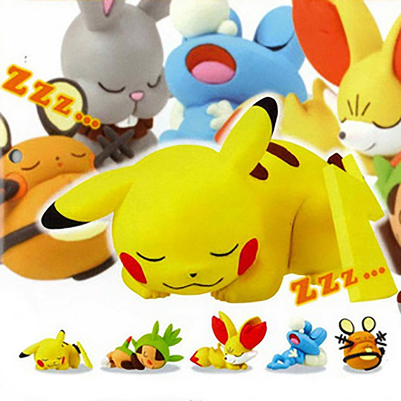 Kawaii pikachu sleeping kids toys action figure toy for children High quality Birthday Christmas gifts 20pcs 1lot petshop cartoon pet shop patrulla canina toys action figure toy 778 minifigure christmas gift to kids