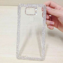 Hard Phone Cases For Huawei Ascend G8 Mate S 7 Case Luxury Transparent Cover For Huawei Honor 5C 5X 7 Diamond Crystal Clear Case(China)