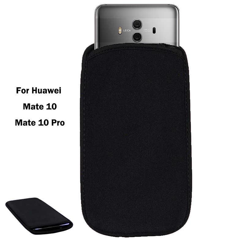 Фото Мягкий гибкий неопреновый защитный черный чехол для Huawei mate 10/Коврики 10 Pro