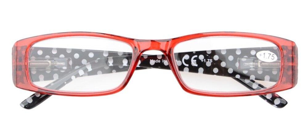 df008a05eb4ea Óculos de Leitura plus 0.50 5-pack Primavera Dobradiças Templos Patterned  Retangular — plus 4.00 Kag86-102