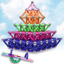 Mixed Color Magnet Bars Metal Balls Kids Magnetic Blocks Toys Toy Accessories DIY Designer Educational Funny Toys