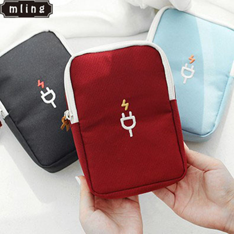 1PC Phone USB Cable Earphone Charger Box Bag Portable Digital Device Organizer Travel Headphone Cable Digital Storage Bags