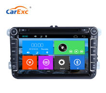 Car Multimedia Player GPS 2 Din For VW/POLO/PASSAT B6/golf 5/Skoda/Octavia/SEAT/LEON Radio Capacitive Touch Screen DVD SD USB(China)